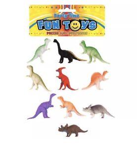 10x Plastic Dinosaurs Piñata Toy Loot/Party Bag Fillers Wedding/Kids UK SLR