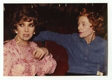 Gina Lollobrigida & Myrna Loy  - Vintage Candid by Peter Warrack - Unpublished
