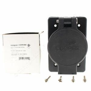 Cooper Black Single Watertight Locking Receptacle L5-20R 20A 125V 2P3W L520RWBK