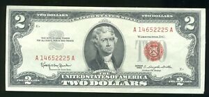 Series of 1963 Red Seal $2 Two Dollar Note Currency CP847