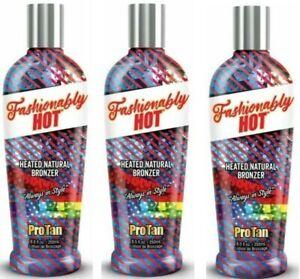 3 x Pro Tan Fashionably Hot Sunbed Tanning Tingle Bronzer lotion Lotion Cream