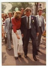 Ted Kennedy & Eunice Kennedy Shriver Vintage Peter Warrack Candid Photo