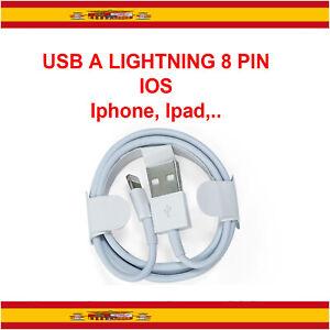 Cable USB cargador y datos Lightning para iPhone 7,8,X,XS,XR, Plus,5 ,6, SE Ipad