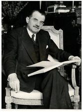 Raymond Brugère, Ambassadeur de France en Belgique Vintage silver print Tirage