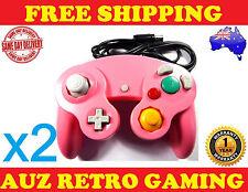 2x New Pink Nintendo Gamecube Controller Gamepad