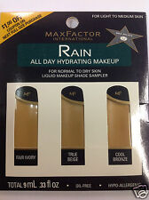Max Factor Rain All Day Hydrating Makeup Shade Sampler FOR LIGHT TO MEDIUM SKIN