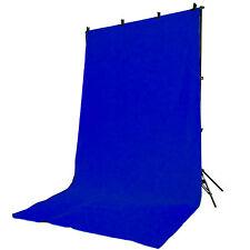 Hintergrundsystem Fotostudio DynaSun FS901 + Stoff Hintergrund W003 2,8x4 Blau