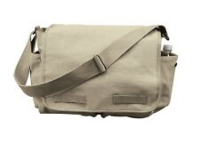Rothco 9848 Brand New  Khaki Vintage Canvas Classic Messenger Bag