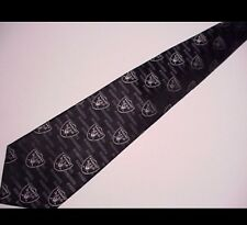 OAKLAND RAIDERS SILK WOVEN BLACK TIE LICENSED NFL 4607-