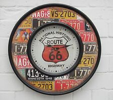 Wanduhr - National Historic US ROUTE 66 Highway - Metall - 60 cm breit - NEU!