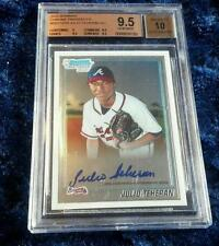Julio Teheran auto Bowman Chrome 2010 BGS 9.5