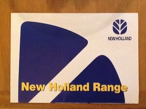 New Holland Tractor Range Poster