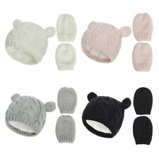Baby Winter Hat & Mitten Set Boys Girls Knit 0-18 Months by Soft Touch Gloves