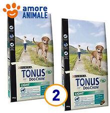 2 SACCHI - Purina Tonus light tacchino 14 Kg - Crocchette per cane adulto