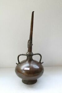 Antique Solid Bronze Fine Shaped Oil Lamp oil Pot / Container Nice Patina NH3967