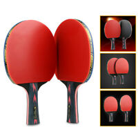 3 Balls Bag Set UK/_ 2pcs Professional Table Tennis Racket Paddle Ping Pong Bat