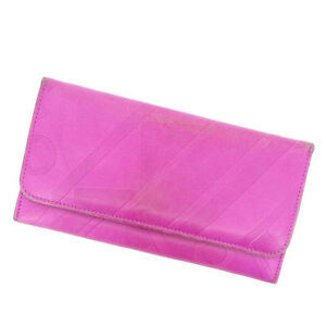 Emilio Pucci Wallet Purse Long Wallet Pink Woman Authentic Used E451