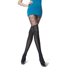 c65278ffab2 Collant fantaisie motif chaussettes haute et pois noir 80DEN taille unique