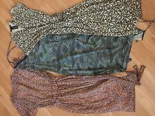 LOT 3 Kenneth Cole New York Summer Dress Halter Wrap Cap Open Sleeve Size XS/ S