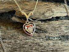 18-inch 14K White Gold & Diamond Heart Necklace