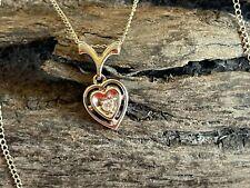 18-inch 14K White Gold & Diamond Heart Necklace