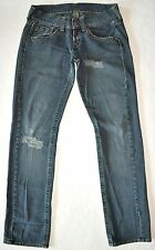 "Replay Men's Factory Distressed ""Dirty"" Blue Jeans Size 29 X 34.5 Long AWESOME"