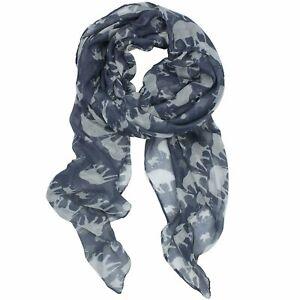 ELSA & ANNA® Viscose Elephant Print Lady Scarf Wrap Shaw Stole Maxi Hijab SCF02