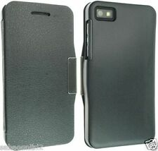 For Blackberry Z10  Hard Back Book Leather Case Cover pouch Slim Smart PU Leathr