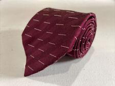 Giorgio Armani Men's Red Geometric Silk Neck Tie $215