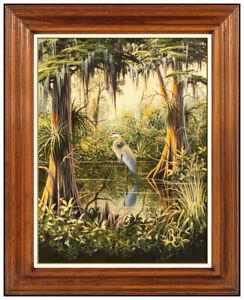 Ben W Essenburg Original Acrylic Painting On Canvas Signed Bird Landscape Art