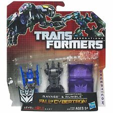 Transformers Generations Fall of Cybertron Ravage & Rumble Figures