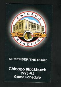 Chicago Blackhawks--1993-94 Pocket Schedule--Coke