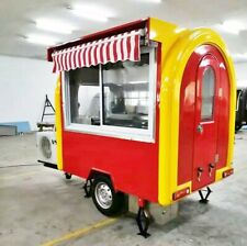 Mobile Food Cart Trailer - Ce Certified, Stainless Steel, Customized Food Trucks