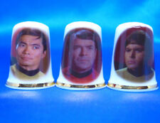 Birchcroft Thimbles - Set of Three - Star Trek Characters ( Make Offer )