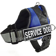 REFLECTIVE Service Dog Harness Vest Padded Harness Removable label 2 patches