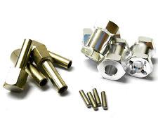 T10130 Rueda Buje hexagonal de escala 1/10 Adaptador de extensión M12 12mm X 4 Aleación De Plata 20mm