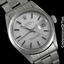 1972 ROLEX DATE (DATEJUST) Vintage Mens with Silver Dial Monochrome Design - SS