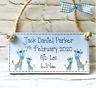 PERSONALISED GIFT new baby boy christening birth handmade keepsake plaque sign
