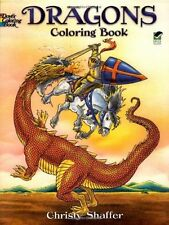Dragons Coloring Book (Dover Coloring Books), New, Free Shipping
