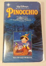 Disney Black Diamond Classics Edition VHS: Pinocchio Demo Tape -- RARE