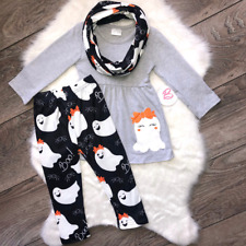 Girl Boutique Gray Ghost Scarf Set Children's Clothing