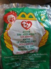 Ty McDonald's Teenie Beanie Baby Antsy The Anteater 1999 #2 Series New In Pkg
