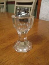 Vintage Crystal Cut Glass  Table Top  lighter clear / decor