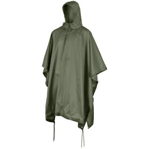 MFH US Poncho Ripstop Rain Cover Waterproof US Army Festival Camping OD Green