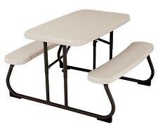 Kid Size Folding Portable Picnic Table Seats 4 Almond Children's Furniture