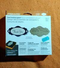 Fiskars Fuse Design Set - Thank You & From the Kitchen - BNIP