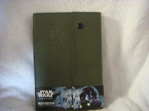 Star Wars Rouge One Leather Folder Notebook in Green
