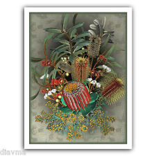© ART Exotic Wildflowers Australian Botanical Flower Bouquet Artist print by Di