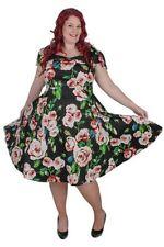 Plus Cotton Blend Casual Dresses for Women