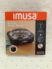 IMUSA PORTABLE SINGLE ELECTRIC BURNER IN BLACK
